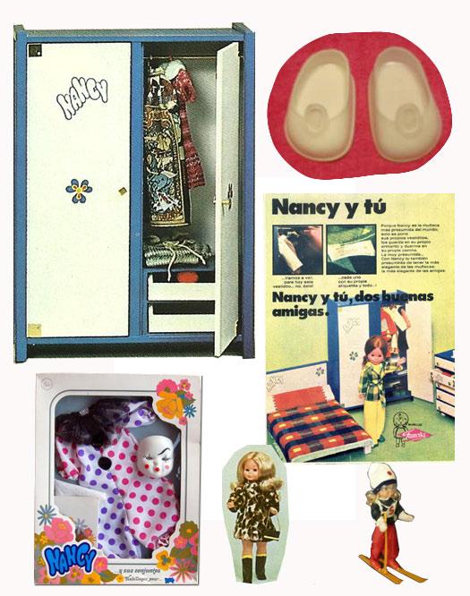 Nancy de Famosa y sus accesorios