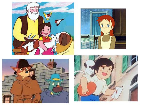 Heidi, Ana de las Tejas Verdes, Sherlock Holmes y Marco