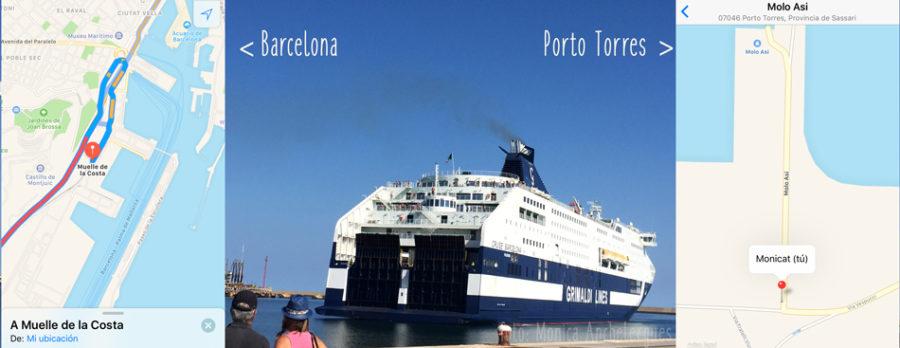Ferry a Cerdeña, muelle y embarque