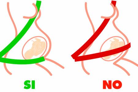 Cinturón seguirdad embarazada