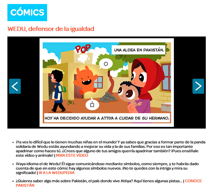 Cómics con Wedu Ayuda en Acción