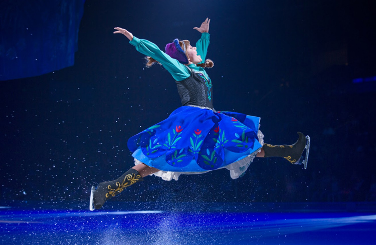 ana en disney on ice