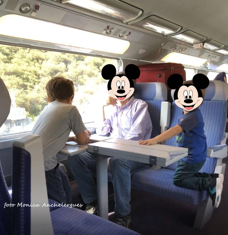 en tren a disney