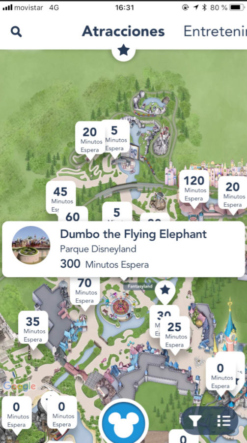 pantallazo de la app de disney