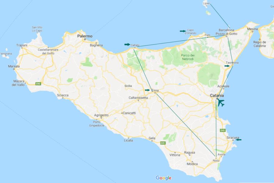 itinerario por sicilia